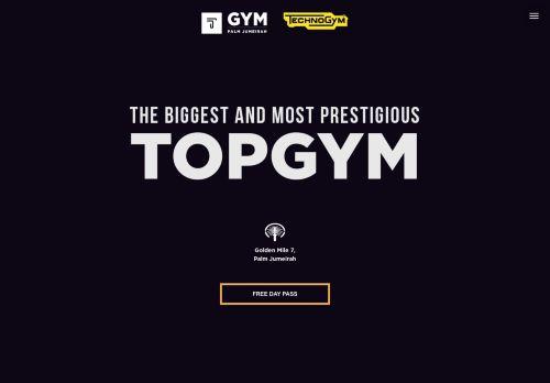 لقطة شاشة لموقع TOP GYM Dubai بتاريخ 30/03/2021 بواسطة دليل مواقع موقعي