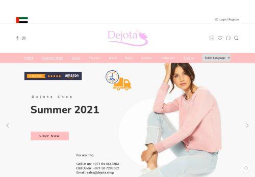 لقطة شاشة لموقع ديجوتا لتجارة الملابس الجاهزة بتاريخ 05/05/2021 بواسطة دليل مواقع موقعي
