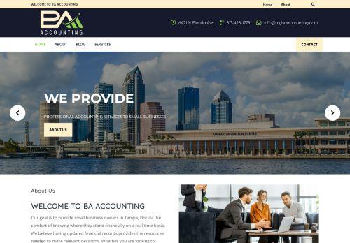 لقطة شاشة لموقع BA Accounting بتاريخ 08/05/2021 بواسطة دليل مواقع موقعي