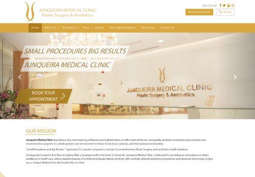 لقطة شاشة لموقع عيادة جونكويرا الطبية دبي بتاريخ 17/05/2021 بواسطة دليل مواقع موقعي