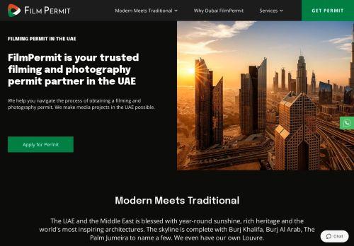 لقطة شاشة لموقع Dubai film permit بتاريخ 19/07/2021 بواسطة دليل مواقع موقعي