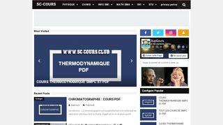 لقطة شاشة لموقع SC-COURS   COURS EXERCICE EXAMENS CORRIGES PDF بتاريخ 21/09/2019 بواسطة دليل مواقع موقعي