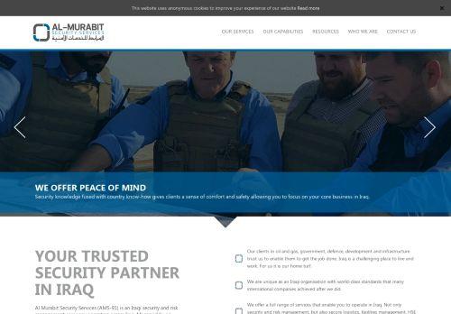 لقطة شاشة لموقع المرابط للخدمات الأمنية بتاريخ 13/09/2020 بواسطة دليل مواقع موقعي