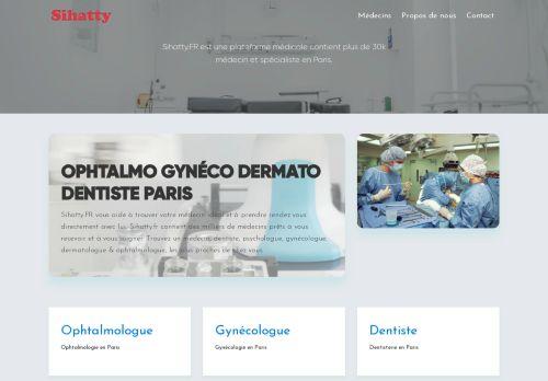 لقطة شاشة لموقع أطباء فرنسا بتاريخ 19/01/2021 بواسطة دليل مواقع موقعي