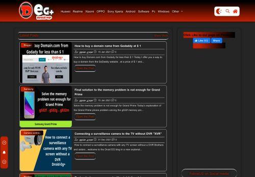 لقطة شاشة لموقع Droid-Eg+ | Learn software and phone repair بتاريخ 19/01/2021 بواسطة دليل مواقع موقعي