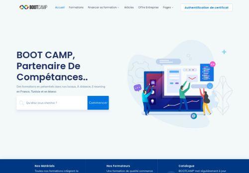 لقطة شاشة لموقع bootcamp بتاريخ 22/02/2021 بواسطة دليل مواقع موقعي