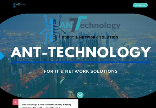 لقطة شاشة لموقع http://ant-technology.org بتاريخ 24/02/2021 بواسطة دليل مواقع موقعي